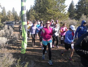 Running my final race before the embryo transfer and pregnancy.
