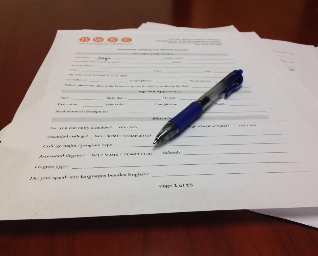 Surrogate Questionnaire