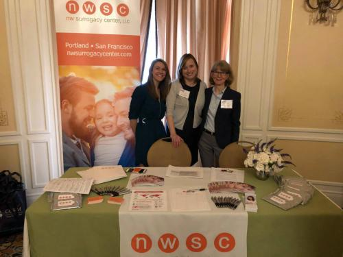NW Surrogacy Center staff at Men Having Babies in San Francisco, CA in 2019.
