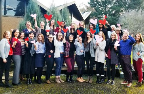 NWSC Portland staff on Valentine's Day 2019